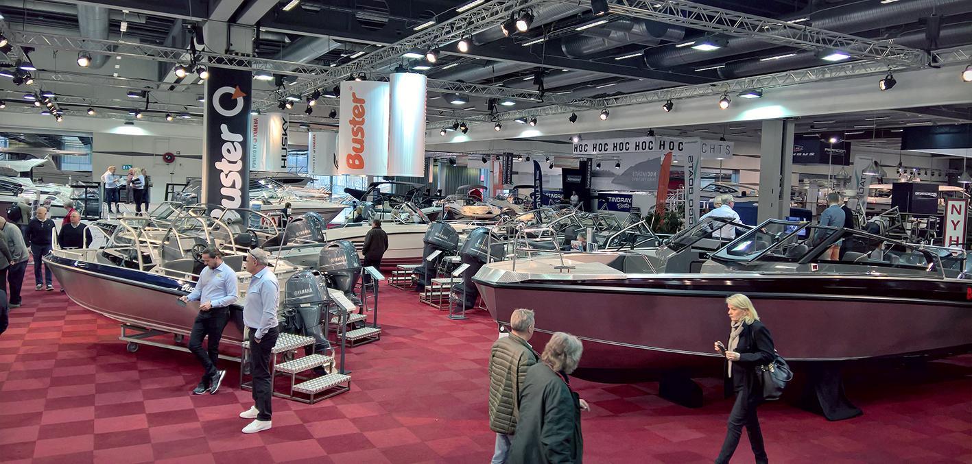 Buster Boats at Stockholm International Boat Show